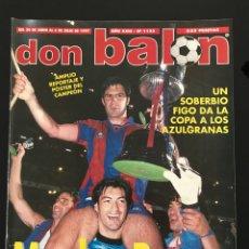 Coleccionismo deportivo: FÚTBOL DON BALÓN 1133 - BARÇA CAMPEÓN COPA POSTER - CHAMPIONS - FUTRE ATLÉTICO - MAZINHO - AS MARCA. Lote 207847202