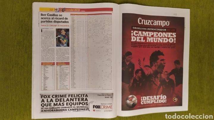 Coleccionismo deportivo: DIARIO AS ESPAÑA CAMPEONA DEL MUNDO SUDÁFRICA 2010. FALTAN PÁGINAS CENTRALES. - Foto 3 - 207858432