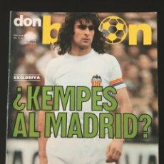 Coleccionismo deportivo: FÚTBOL DON BALÓN 131 - KEMPES - CRUYFF - ESPAÑA - ARGENTINA 78 - ZARAGOZA - VALENCIA - AS MARCA. Lote 207866512