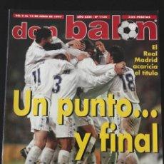 Coleccionismo deportivo: FÚTBOL DON BALÓN 1130 - POSTER MÉRIDA - ESPAÑA - MADRID - ZARAGOZA - ATHLETIC - ESPANYOL - JUANELE. Lote 207870002