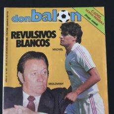 Coleccionismo deportivo: FÚTBOL DON BALÓN 501 - PÓSTER CÁDIZ - MICHEL - ELDUAYEN - JUVENTUS - LIVERPOOL - FINAL COPA EUROPA. Lote 207871201