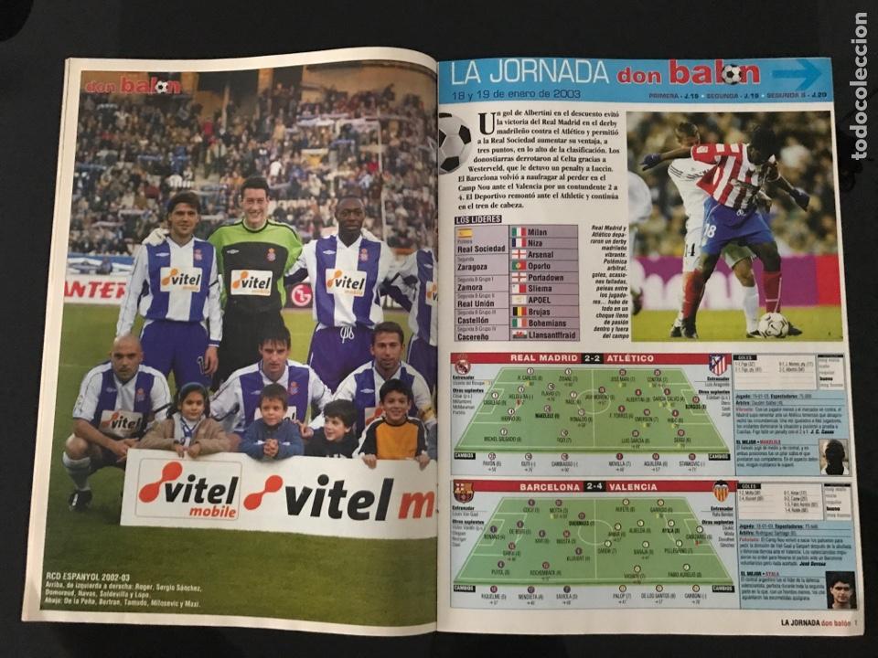 Coleccionismo deportivo: Fútbol don balón 1423 - Poster Espanyol - Atlético - Iniesta - Racing - Camacho - Sporting - as - Foto 2 - 207871931