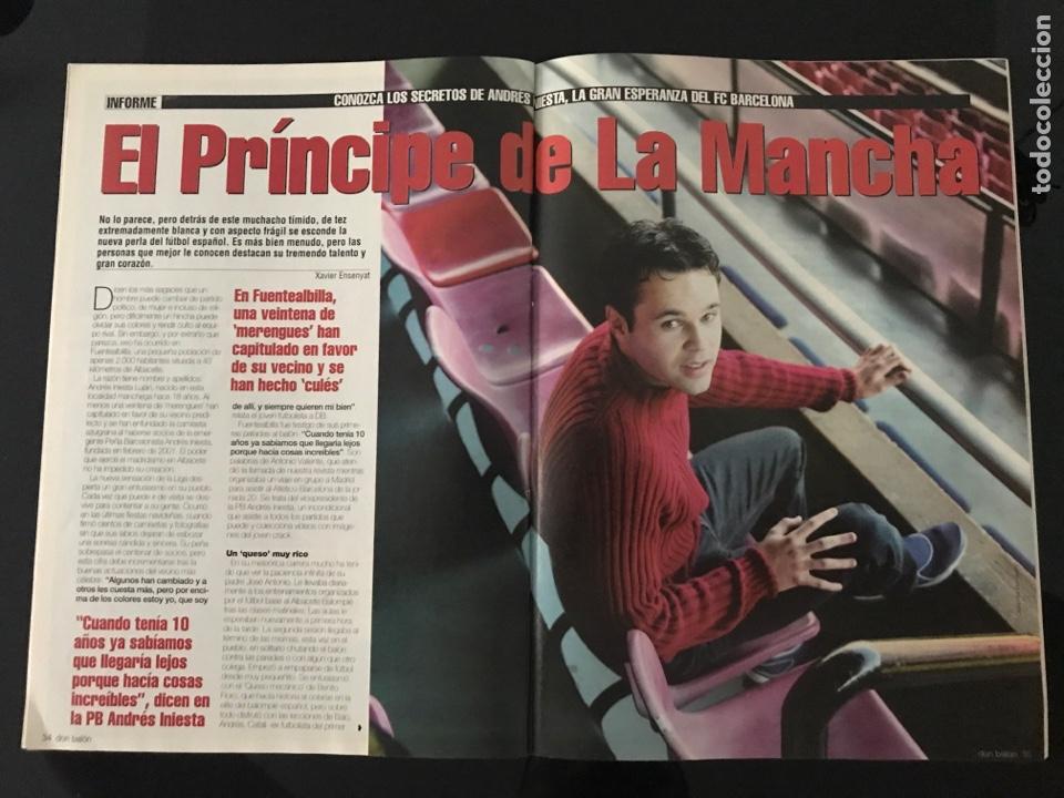 Coleccionismo deportivo: Fútbol don balón 1423 - Poster Espanyol - Atlético - Iniesta - Racing - Camacho - Sporting - as - Foto 4 - 207871931