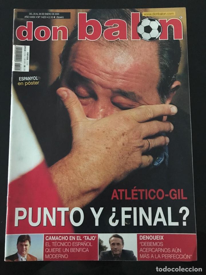 FÚTBOL DON BALÓN 1423 - POSTER ESPANYOL - ATLÉTICO - INIESTA - RACING - CAMACHO - SPORTING - AS (Coleccionismo Deportivo - Revistas y Periódicos - Don Balón)