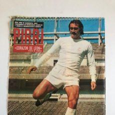 Coleccionismo deportivo: POSTER AS COLOR PIRRI REAL MADRID CORAZON DE LEON. Lote 207873706