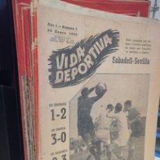 Coleccionismo deportivo: DIARIO VIDA DEPORTIVA DEL N°1 AL 48. ENERO 1945 A DICIEMBRE DEL MISMO AÑO (EXCEPTUANDO EL N°9). Lote 207895733