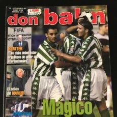 Coleccionismo deportivo: FÚTBOL DON BALÓN 1355 - POSTER PIZARRO - BETIS - SÍVORI - JUNINHO - COPAS EUROPEAS - SALGADO MADRID. Lote 207914928