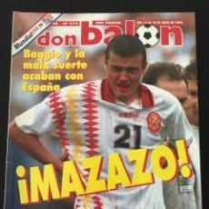 Coleccionismo deportivo: FÚTBOL DON BALÓN 976 - ESPAÑA MUNDIAL USA - BAGGIO ITALIA - SELECCIÓN - LAUDRUP - ALBUM AS MARCA. Lote 207956118