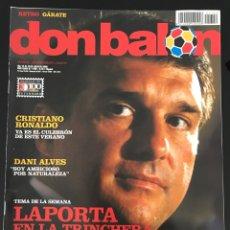 Coleccionismo deportivo: FÚTBOL DON BALÓN 1709 - ALVES BARÇA - C. RONALDO - VILLARREAL - GARATE ATLÉTICO - AS MARCA ALBUM. Lote 208022250