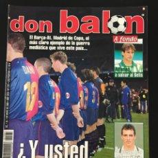 Coleccionismo deportivo: FÚTBOL DON BALÓN 1281 - POSTER REDONDO - BETIS - RACING - MALLORCA - BAYERN - ALAVÉS - M. UNITED. Lote 208046212