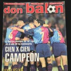 Coleccionismo deportivo: FÚTBOL DON BALÓN 1232 - BARCELONA CAMPEÓN LIGA - POSTER PIOJO - MCMANAMAN - FINAL RECOPA MALLORCA. Lote 208047616
