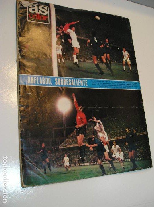 Coleccionismo deportivo: REVISTA AS COLOR Nº 6 1971. GRAN POSTER CF BARCELONA Nº 6 JULIO IGLESIAS DEJA EL FUTBOL - Foto 6 - 208110657
