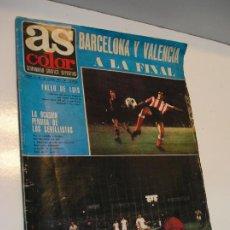 Coleccionismo deportivo: REVISTA AS COLOR Nº 6 1971. GRAN POSTER CF BARCELONA Nº 6 JULIO IGLESIAS DEJA EL FUTBOL. Lote 208110657