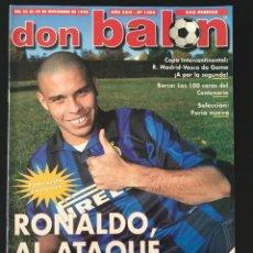 Coleccionismo deportivo: FÚTBOL DON BALÓN 1206 - POSTER OVIEDO - RONALDO - MADRID INTERCONTINENTAL - BARÇA DEL PIERO ESPAÑA. Lote 208124108