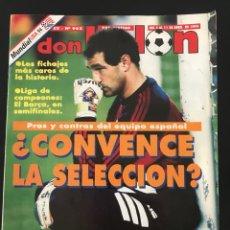 Coleccionismo deportivo: FÚTBOL DON BALÓN 962 - POSTER KODRO - ESPAÑA - ONÉSIMO - JUANELE SPORTING - CHAMPIONS BARCELONA. Lote 208132040