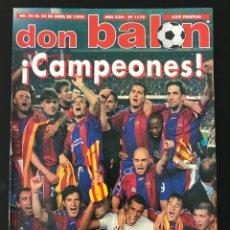 Coleccionismo deportivo: FÚTBOL DON BALÓN 1175 - BARÇA CAMPEÓN - POSTER FINIDI - VALLADOLID - AJAX HOLANDA CHAMPIONS MADRID. Lote 208154315