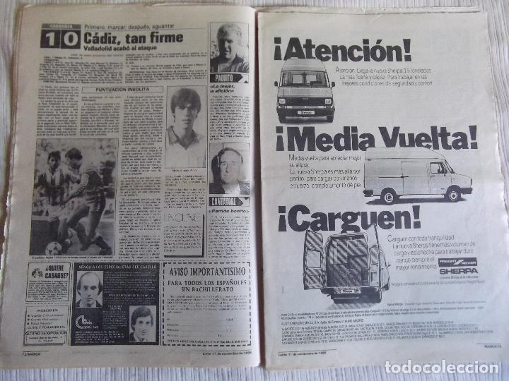 Coleccionismo deportivo: MARCA-1985-Nº13636-LA LIGA-SETIEN-CLEMENTE-CARDO-NOVOA-LUIS COSTA-PAQUITO-CANTATORE-MAGUREGUI-ALZATE - Foto 6 - 21141875
