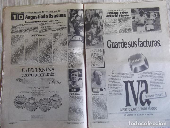 Coleccionismo deportivo: MARCA-1985-Nº13636-LA LIGA-SETIEN-CLEMENTE-CARDO-NOVOA-LUIS COSTA-PAQUITO-CANTATORE-MAGUREGUI-ALZATE - Foto 7 - 21141875