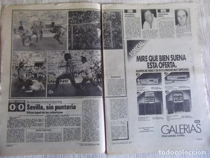 Coleccionismo deportivo: MARCA-1985-Nº13636-LA LIGA-SETIEN-CLEMENTE-CARDO-NOVOA-LUIS COSTA-PAQUITO-CANTATORE-MAGUREGUI-ALZATE - Foto 9 - 21141875