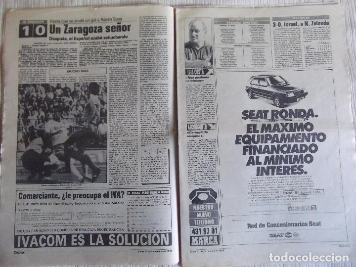 Coleccionismo deportivo: MARCA-1985-Nº13636-LA LIGA-SETIEN-CLEMENTE-CARDO-NOVOA-LUIS COSTA-PAQUITO-CANTATORE-MAGUREGUI-ALZATE - Foto 10 - 21141875