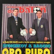 Coleccionismo deportivo: FÚTBOL DON BALÓN 1001 - STOICHKOV BAGGIO - BARCELONA - AMAVISCA - ARGENTINA - ESPAÑA - AS MARCA. Lote 208388510