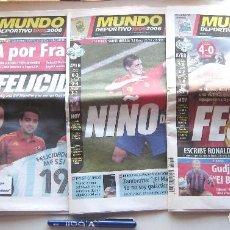 Coleccionismo deportivo: MUNDO DEPORTIVO JUNIO 2006 MUNDIAL ALEMANIA FUTBOL 2006 LOS 4 DIARIOS POSPARTIDOS ESPAÑA. Lote 208476163