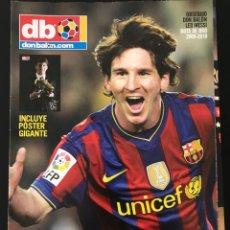 Coleccionismo deportivo: FÚTBOL DON BALÓN - EXTRA LEO MESSI - POSTER GIGANTE - REY DEL GOL - AS MARCA ALBUM CROMO. Lote 208483263