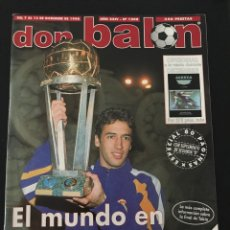 Coleccionismo deportivo: FÚTBOL DON BALÓN 1208 - MADRID CAMPEÓN POSTER - RAÚL - CELTA - FERRER - KLUIVERT - AS MARCA ALBUM. Lote 208540221