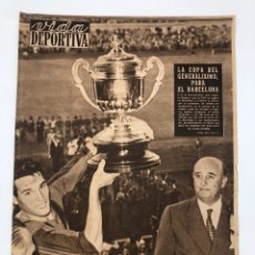 Coleccionismo deportivo: DIARIO VIDA DEPORTIVA FINAL COPA GENERALÍSIMO 1957 CAMPEÓN FC BARCELONA RCD ESPAÑOL NÚMERO 613. Lote 208768075