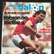 Coleccionismo deportivo: FÚTBOL DON BALÓN 401 - BARCELONA CAMPEÓN COPA - MADRID - ZICO - GARECA - INTER - DÍAZ MIGUEL BASKET. Lote 208922810