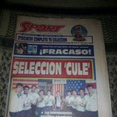 Coleccionismo deportivo: DIARIO SPORT. NUM. 5225. 27 DE MAYO DE 1994. SELECCION CULE. RARO.. Lote 208952635