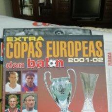 Collectionnisme sportif: EXTRA DON BALON COPAS EUROPA 2001 2002. RESUMEN. Lote 208955636