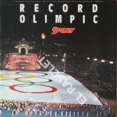 Coleccionismo deportivo: EL DIARIO SPORT - T,OFEREIX EL MILLOR RECORD OLIMPIC DE BARCELONA 92 -. Lote 209030627