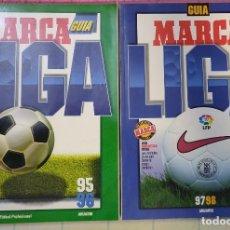 Collectionnisme sportif: 2 GUIAS MARCA LA LIGA 95/96 Y 97/98. Lote 209602320