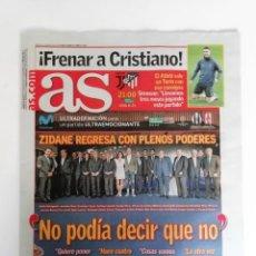 Coleccionismo deportivo: AS: EL REGRESO DE ZIDANE. Lote 209733877