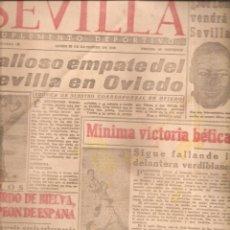 Colecionismo desportivo: 2322. SEVILLA. 17 DICIEMBRE 1945. SEVILLA/OVIEDO. BETIS/REAL SOCIEDAD. Lote 209941161