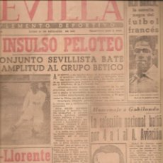 Colecionismo desportivo: 2324. SEVILLA. SEVILLA / BETIS (24 DICIEMBRE 1945). Lote 209947530