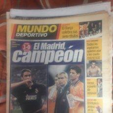 Coleccionismo deportivo: MUNDO DEPORTIVO, 8ª COPA DE EUROPA DEL REAL MADRID. Lote 210024740