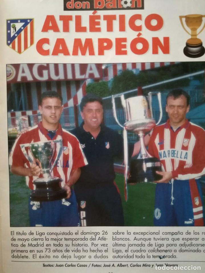 Coleccionismo deportivo: LOTE DON BALON 1070-1076 DOBLETE ATLETICO DE MADRID CAMPEON LIGA COPA DEL REY 95/96 ATLETI 1995/1996 - Foto 2 - 210052131