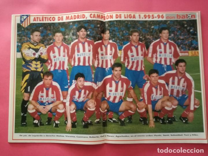 Coleccionismo deportivo: LOTE DON BALON 1070-1076 DOBLETE ATLETICO DE MADRID CAMPEON LIGA COPA DEL REY 95/96 ATLETI 1995/1996 - Foto 3 - 210052131