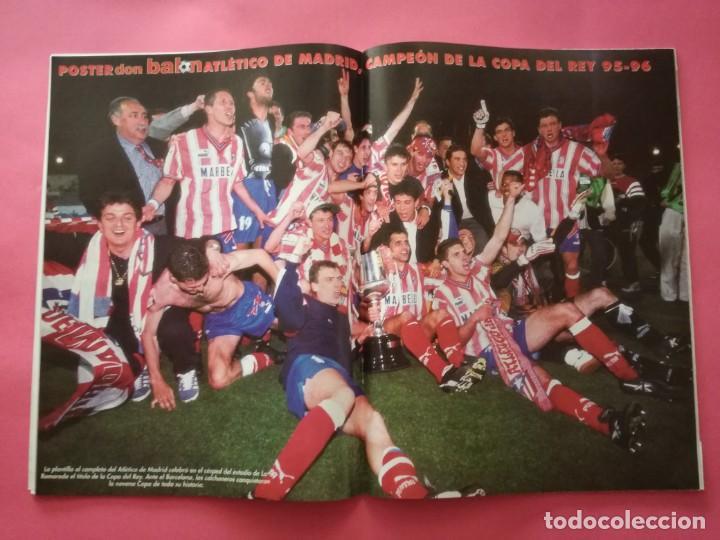 Coleccionismo deportivo: LOTE DON BALON 1070-1076 DOBLETE ATLETICO DE MADRID CAMPEON LIGA COPA DEL REY 95/96 ATLETI 1995/1996 - Foto 5 - 210052131