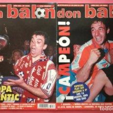 Coleccionismo deportivo: LOTE DON BALON 1070-1076 DOBLETE ATLETICO DE MADRID CAMPEON LIGA COPA DEL REY 95/96 ATLETI 1995/1996. Lote 210052131