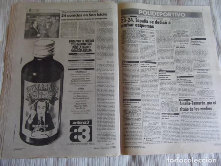Coleccionismo deportivo: MARCA-1985-Nº13407-MAGICO DIAZ-NO COMPLETO - Foto 3 - 21141967