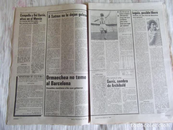 Coleccionismo deportivo: MARCA-1985-Nº13407-MAGICO DIAZ-NO COMPLETO - Foto 7 - 21141967