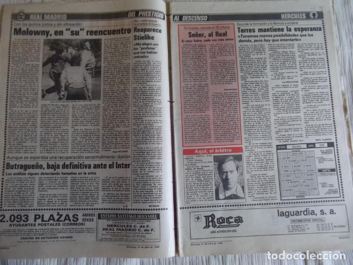 Coleccionismo deportivo: MARCA-1985-Nº13461-CON LA PRIMERA EN JUEGO-MOLOWNY-DE CARLOS-ABLANEDO-CARRIEGA-ARSENIO - Foto 14 - 21142047