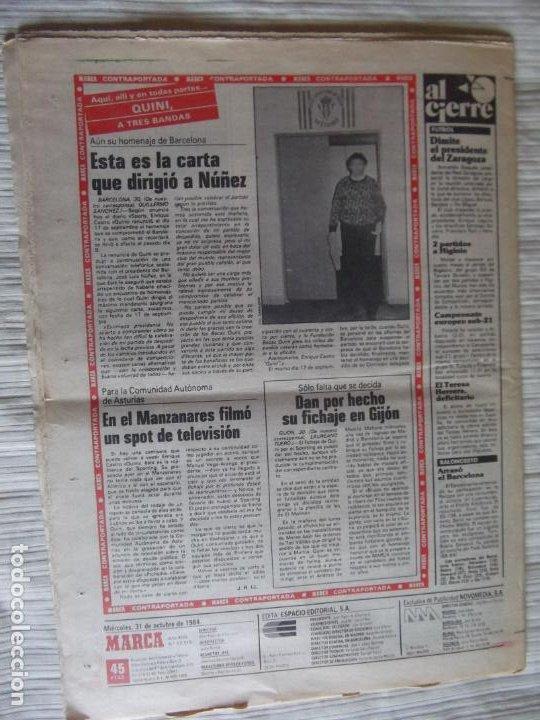 Coleccionismo deportivo: MARCA-1984-Nº13315-32 PAGINAS-VALDANO-SCHUSTER-QUINI-SITO PONS-JOSE HIGUERAS - Foto 2 - 23618219