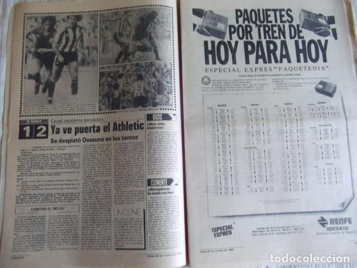 Coleccionismo deportivo: MARCA-1984-Nº13314-40 PAGINAS-JORNADA DE LIGA-LUIS-VENABLES-ORMAECHEA-BENITEZ-CLEMENTE-AZCARGORTA - Foto 3 - 23618318