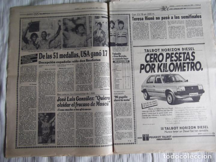 Coleccionismo deportivo: MARCA-1984-Nº13244-ORO EN VELA-VALDANO TOMO MADRID- - Foto 10 - 21127184