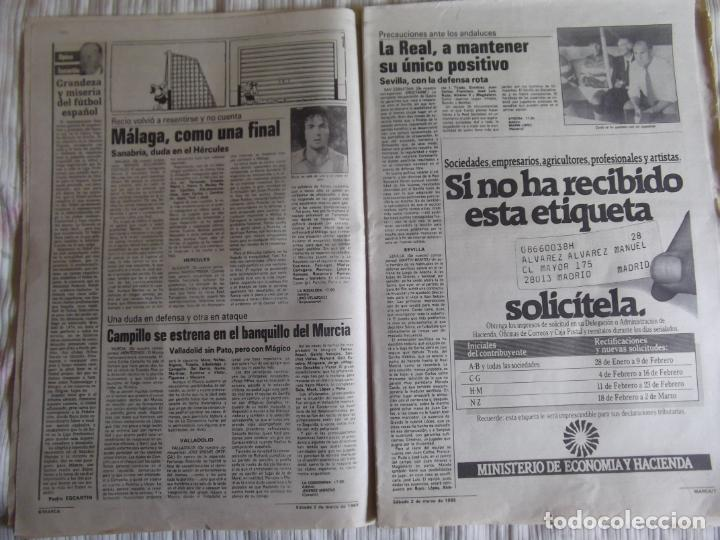 Coleccionismo deportivo: MARCA-1985-Nº13419-YA HIERVE VALENCIA-CHECHU ROJO-AMORRORTU-CHURRUCA-MIGUEL ANGEL-OCHOTORENA-CALDERE - Foto 4 - 21141816
