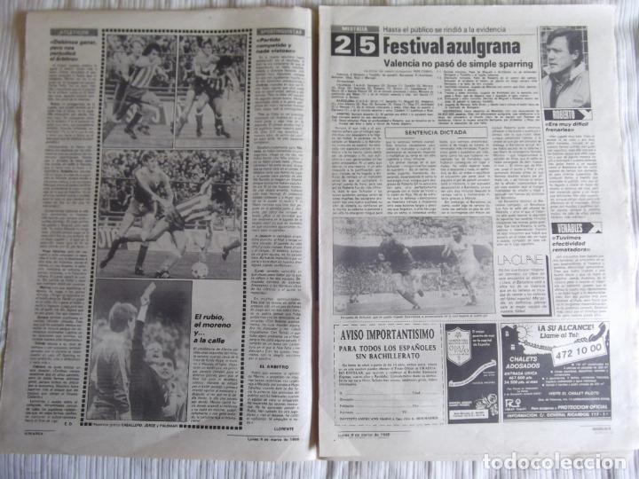 Coleccionismo deportivo: MARCA-1985-Nº13421-MESTALLA 2-5,FESTIVAL AZULGRANA- - Foto 4 - 21142088